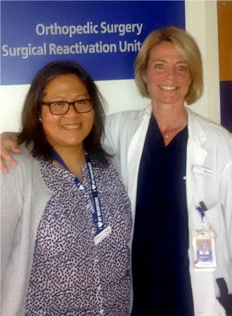 Mary Cho (OT) and Michelle Bech (Nurse Practitioner)