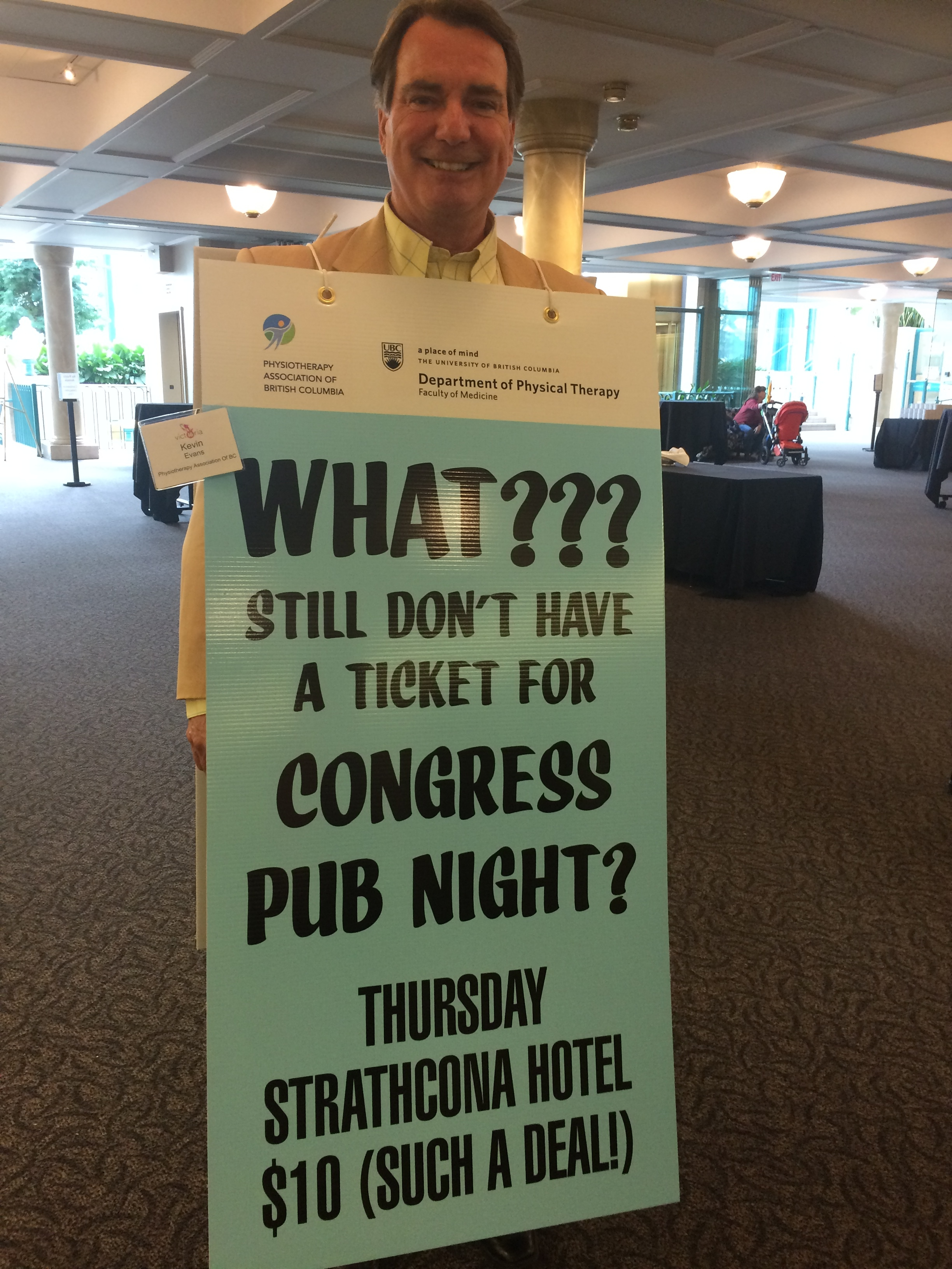 Canadian board of physical therapy - Organized And Hosted By The Physiotherapy Association Of British Columbia And The University Of British Columbia Congress Pub Night Was A Sold Out Affair
